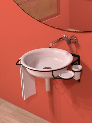 Washbasins For Metallic Supports